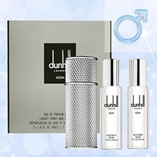 af3735b2e99 Dunhill Icon Eau de Parfum 2x30 ml Travel Sizes: The aromatic-spicy  fragrance for men comes in two handy travel sizes!